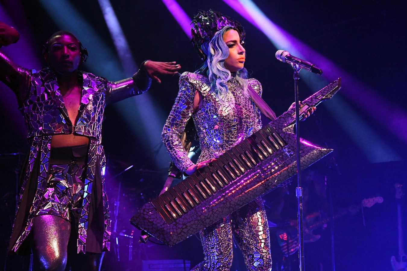 On the scene for Lady Gaga's first-ever performance at The Apollo