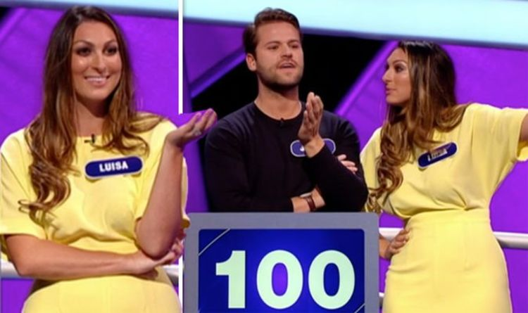 Pointless: Luisa Zissman FURIOUS with co-star James Hill as he makes unforgivable mistake