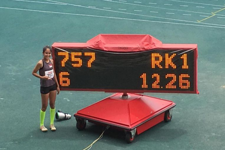 Athletics: Tia Louise Rozario rewrites national triple jump record for the second time in three months