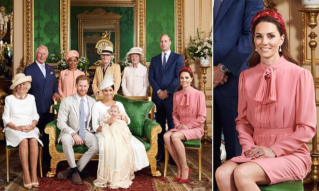 Kate stuns in pink gown at Archie's christening