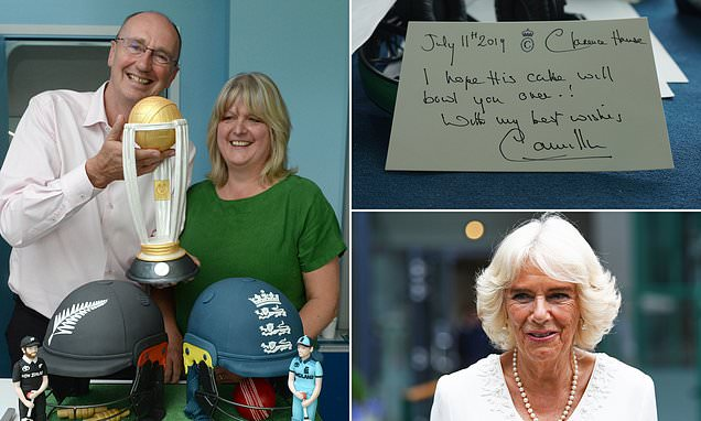 Duchess of Cornwall sends cake to BBC team at Cricket World Cup final
