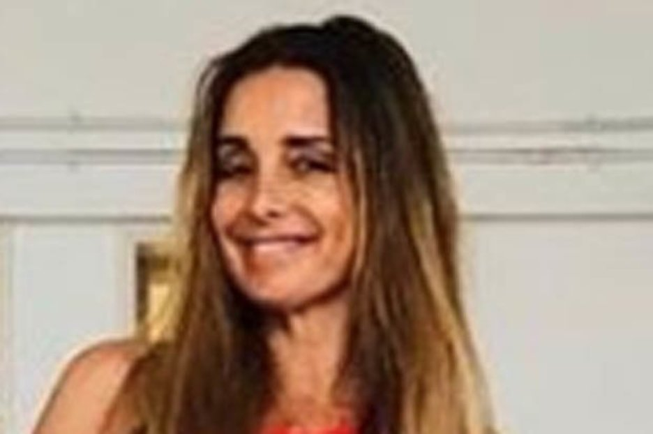 Louise Redknapp flashes the flesh in gown that refuses to stay up