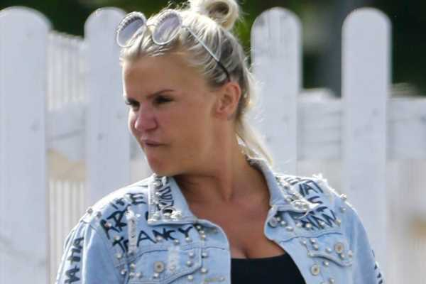 Kerry Katona looks devastated as she's spotted for the first time since ex-husband George Kay's death