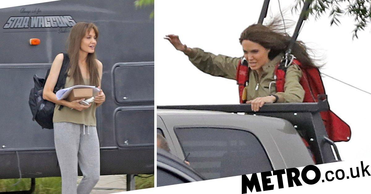 Action woman Angelina Jolie does her own stunts on set of Those Who Wish Me Dead