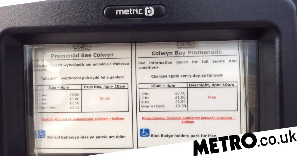Dodgy Welsh translation means locals pay more to park than English visitors