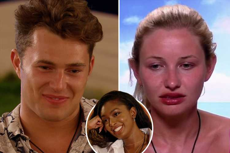 Love Island's Curtis reveals he's been lying to Amy as she admits she's in love with the ballroom dancer