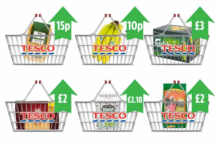 Tesco hikes 1,000 prices in just TWO weeks with cheese, pasta and jam all going up