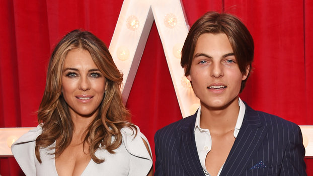 Elizabeth Hurley's Son Looks So Much Like Her in This New Beauty Ad
