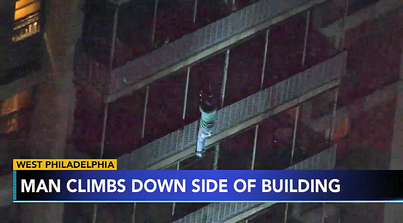 Philadelphia Man Escapes Fire By Climbing Down Side of 19-Story Building, Spider-Man Style