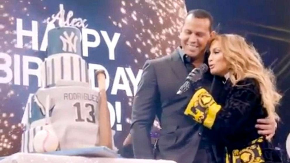 Jennifer Lopez sings 'Happy Birthday' to Alex Rodriguez onstage at her concert