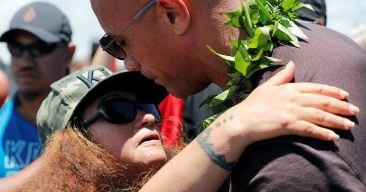 Dwayne 'The Rock' Johnson shows up at Hawaii volcano to support protesters