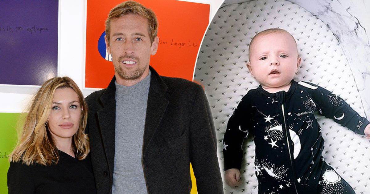Abbey Clancy shares adorable picture of her 10 week old 'darling boy' Jack after she and husband Peter Crouch welcome fourth child
