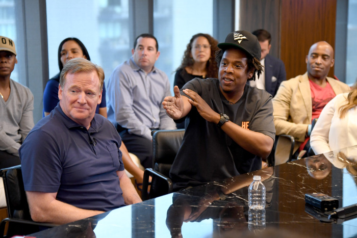 Jay-Z, NFL Commissioner Discuss Partnership, Say They've Spoken With Colin Kaepernick