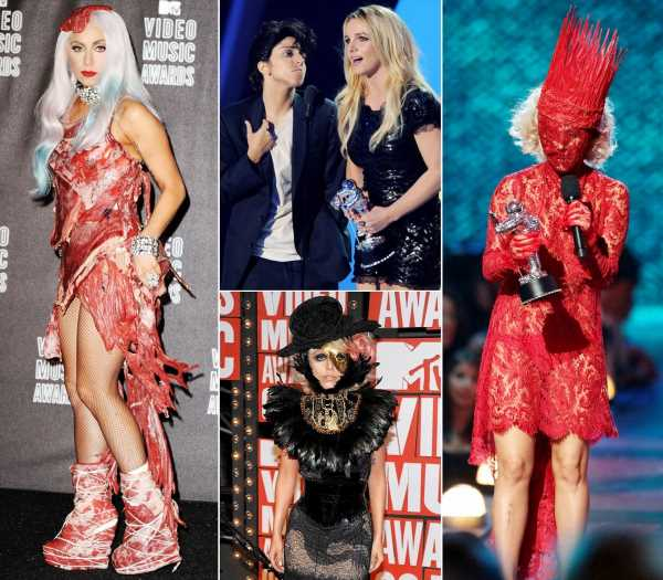 A Look Back at Lady Gaga's Craziest VMAs Outfits of All Time