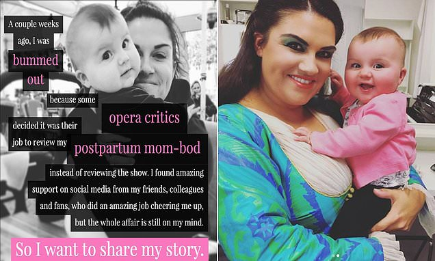 Soprano slams critics for shaming her 'mom-bod'