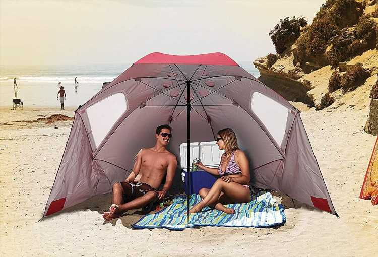 This is the only beach umbrella you'll ever need — now on sale for $56