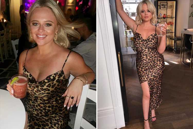 Emily Atack looks incredible in leopard print dress on last day of Greek holiday with her best friends
