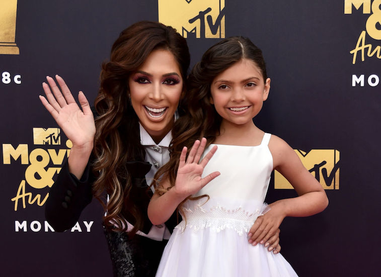 Farrah Abraham's Daughter Defends Her; Tells 'Haters' To 'Back Off'