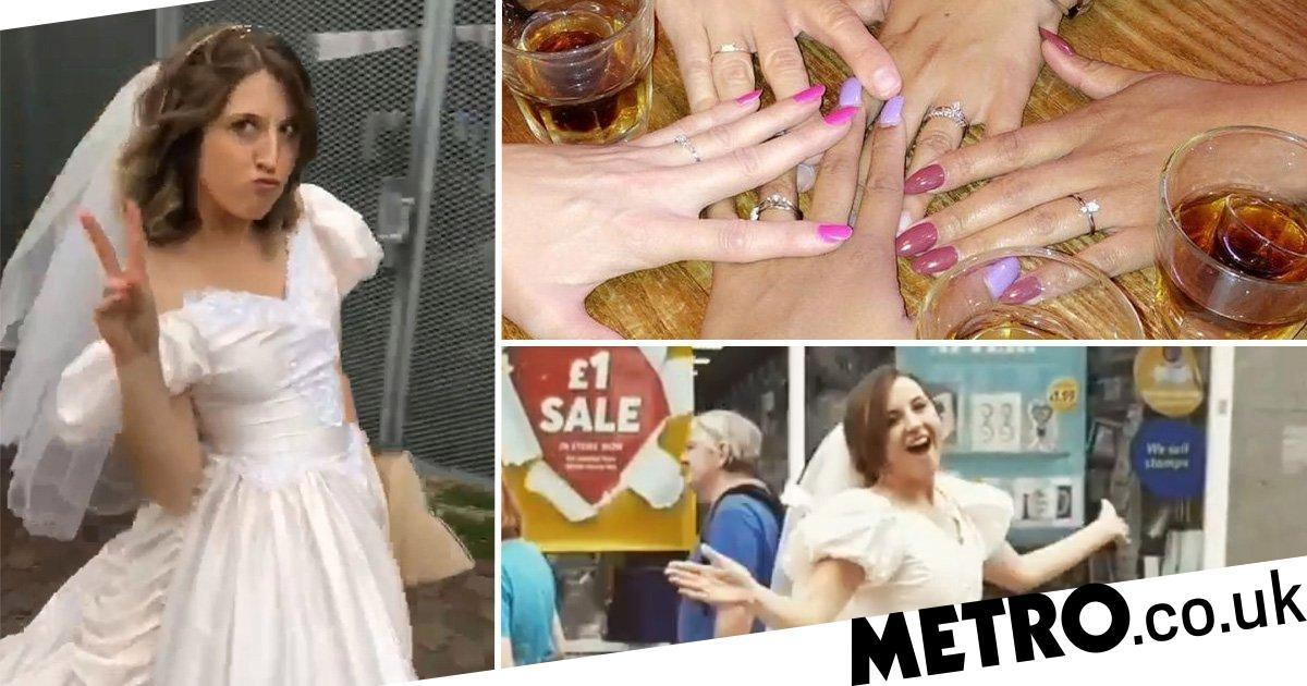 Mum has wedding-themed birthday because she's sick of seeing friends get married