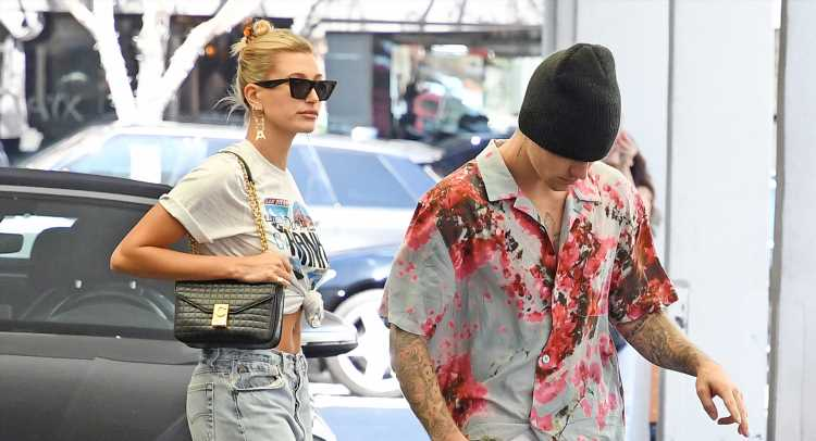 Hailey Bieber Wears Justin's Lyrics While Stepping Out with Him