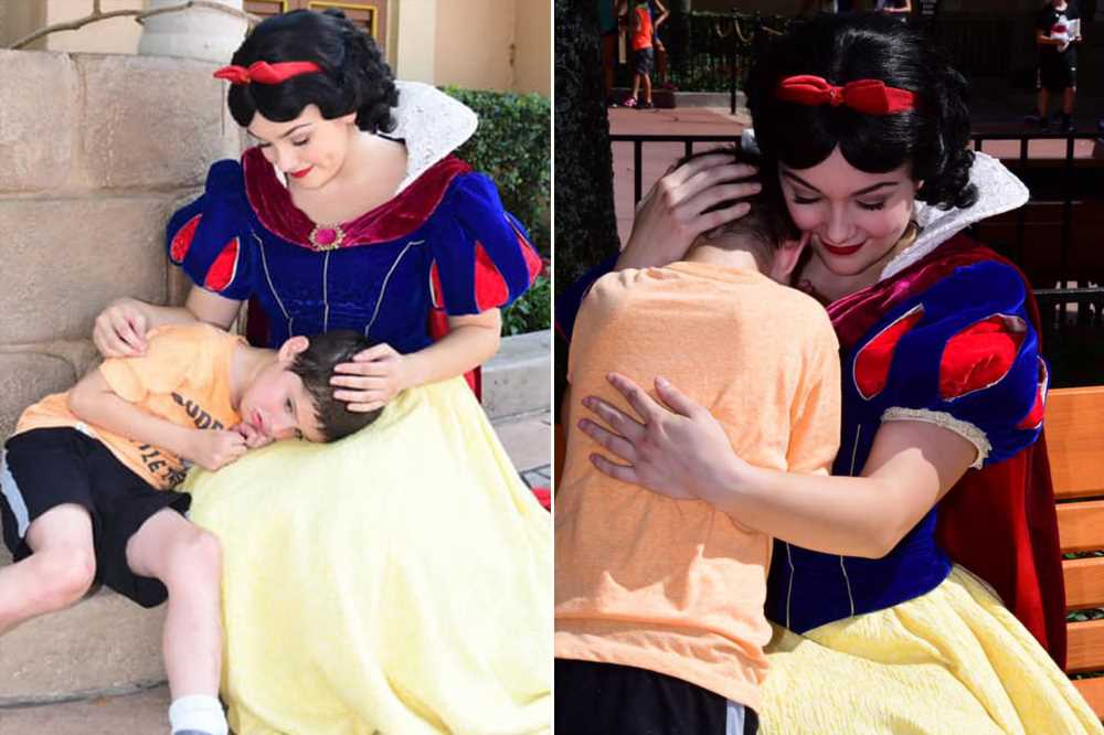 Snow White helps soothe crying boy with autism at Disney World