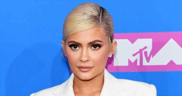 Kylie Jenner Boards Plane with What Looks Like a Wedding Dress, But…