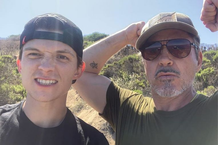 Robert Downey Jr and Tom Holland reunite amid reports Spider-Man is leaving Marvel