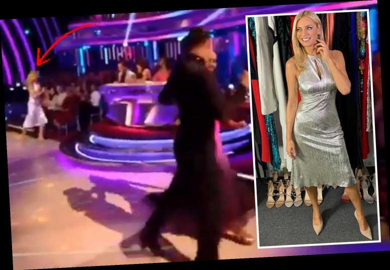 Strictly viewers in hysterics as they spot Tess Daly running off set during live show