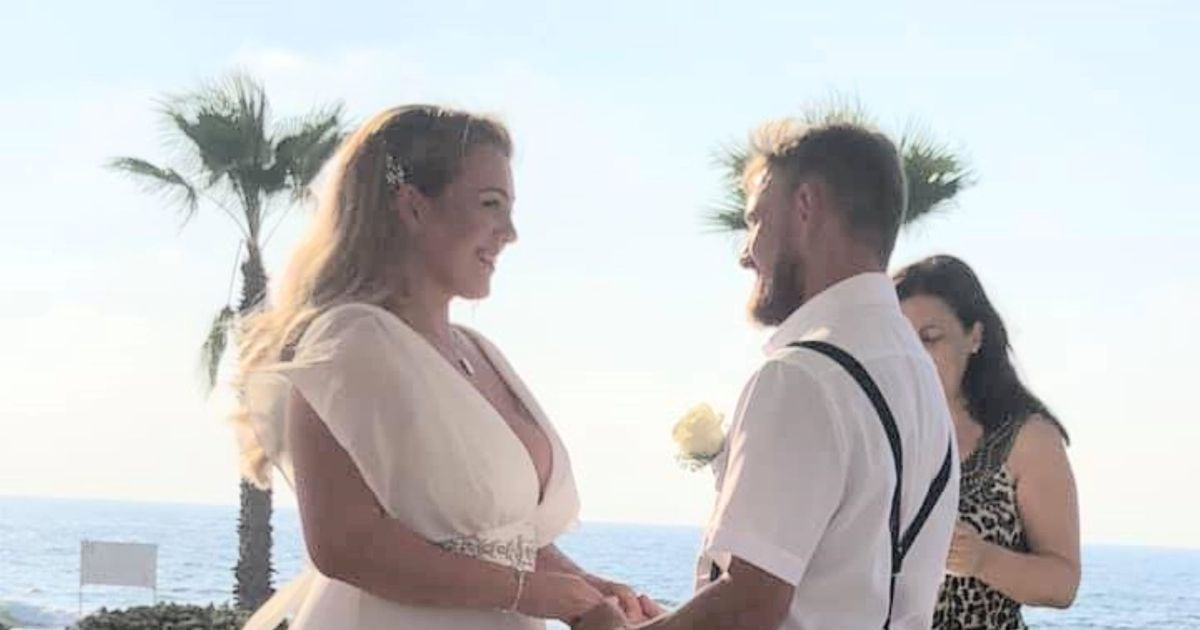 Bride loves £650 dress so much she doesn't take it off for days after wedding