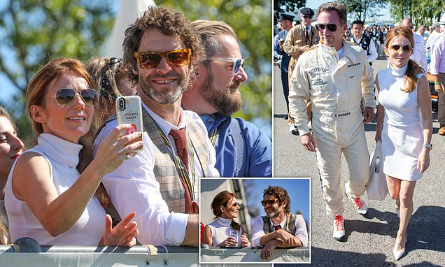 Geri and Christian Horner attend Goodwood Revival with Howard Donald