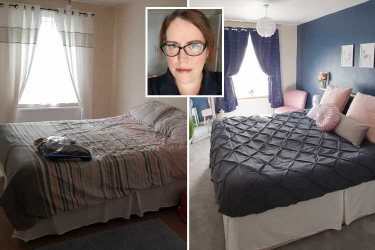 Mum transforms her bedroom for under £600 using bargains from B&M, The Range and eBay