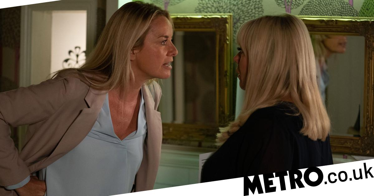 Mel blackmails Sharon in EastEnders tonight
