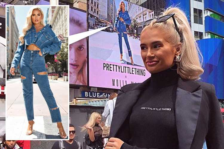 Molly-Mae hits New York fashion week and gets her face on a billboard in Times Square