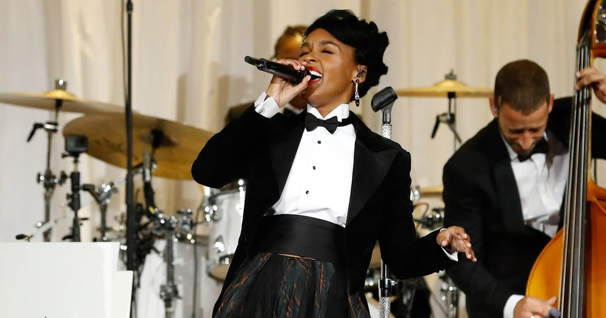 Things Janelle Monáe Did at Her Fun NYFW Set: Tossed Food, Threw a Glass, Amazed Everyone