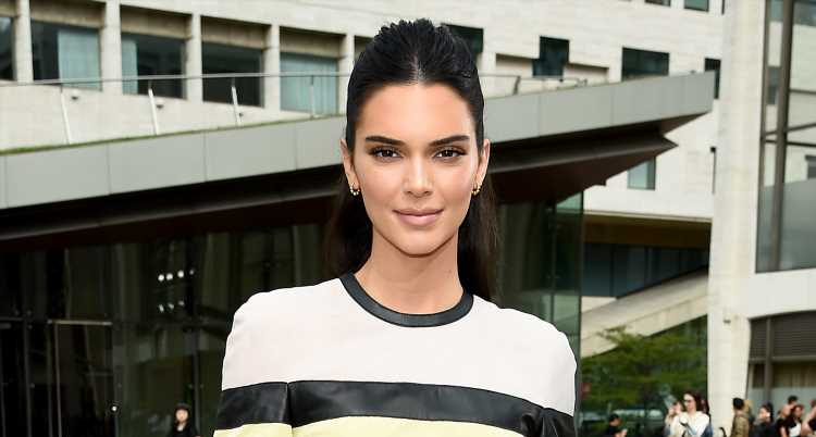 Kendall Jenner Sits Front Row at Longchamp Fashion Show