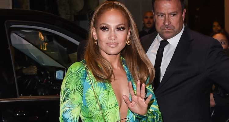 Jennifer Lopez Channels Iconic Green Dress For a Second Time at Versace After-Party