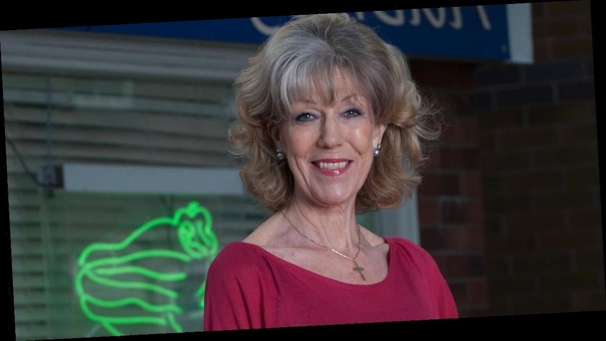 Corrie's Sue Nicholls written out after breaking collarbone in nasty fall