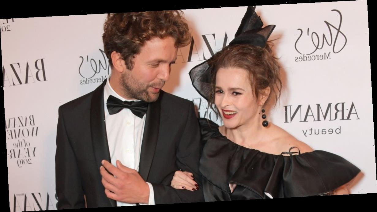 Helena Bonham Carter looks blissfully happy as she poses up with toyboy