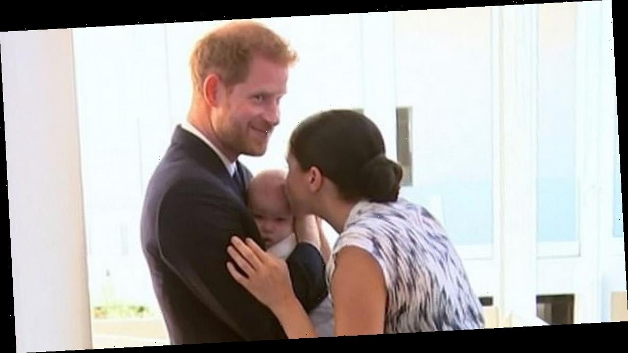 Prince Harry shares adorable moment with baby son Archie and wife Meghan Markle in unseen clip