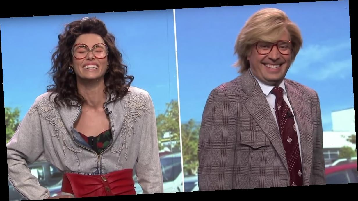 Jimmy Fallon and Jessica Biel Could NOT Keep It Together in This '90s Commercial Spoof