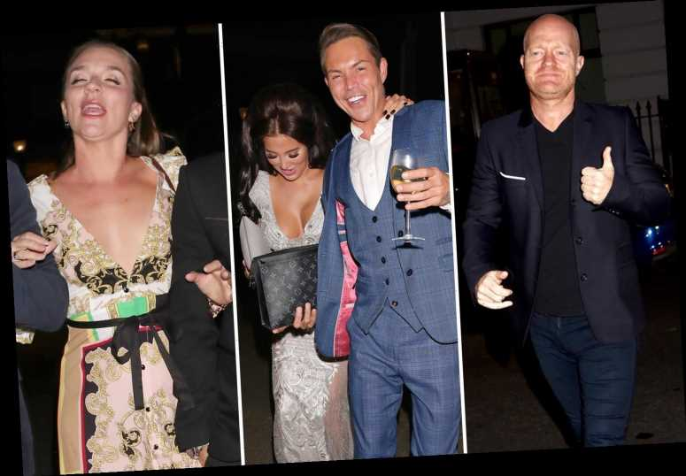 Jake Wood, Bobby Norris and Candice Brown look all partied out after glam night at the Best Heroes Awards – The Sun