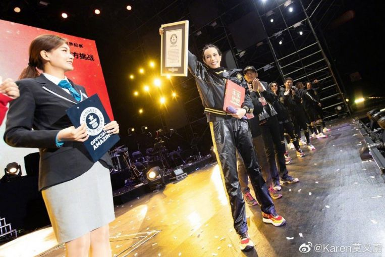 Hong Kong singer Karen Mok holds concert at record-breaking altitude