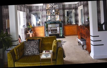 Woman turns 'boring' home into 'flamboyant' 1930s dream mansion in just 12 weeks