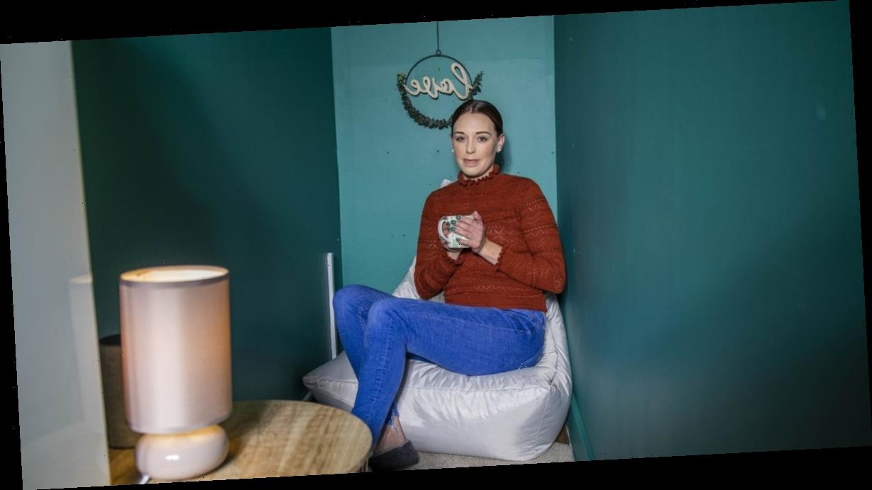 Woman turns cupboard under stairs into 'mum cave' to chill out in on busy days