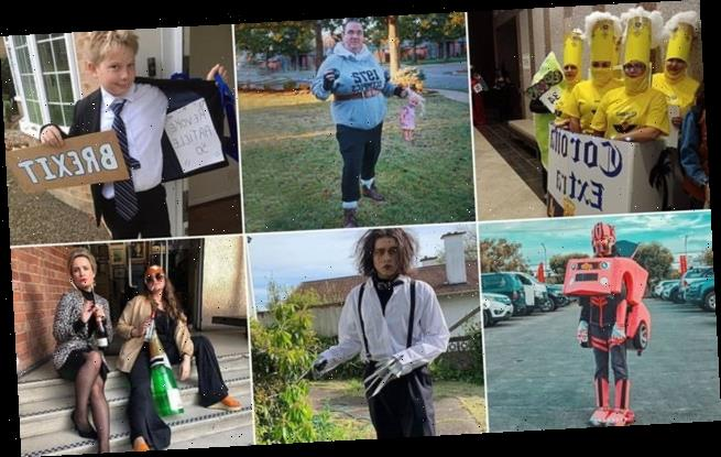 Social media users show off their creative Halloween costumes