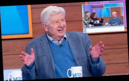 Stanley Johnson appears on Loose Women with huge plaster on his face