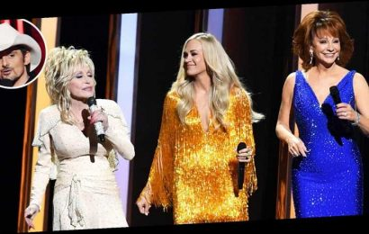 Where's Brad? Carrie, Reba and Dolly Preach Girl Power in CMAs Monologue