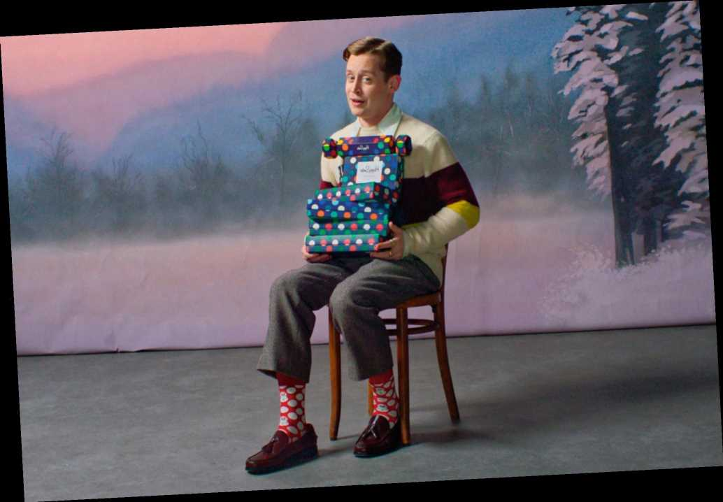 Macaulay Culkin is stocking up on socks for the holidays