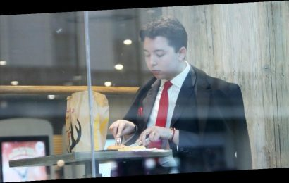 Apprentice star Ryan-Mark Parsons spotted eating McDonalds with a knife and fork