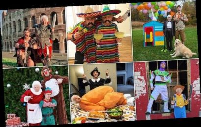 Grandmother, 93, and grandson share snaps of their hilarious costumes